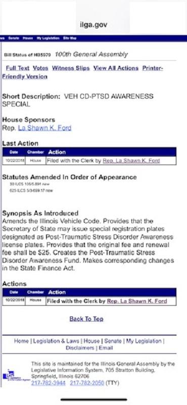 PTSD License Plate - K9S FOR VETERANS